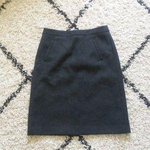 J.Crew gray wool Sterling skirt